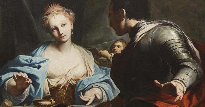 Antonio Gionima XVIII secolo:  «Il banchetto di Antonio e Cleopatra»