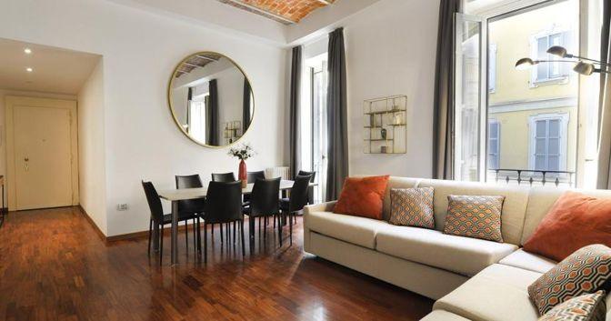 Un appartamento in Foro Buonaparte a Milano, tra le nuove proprietà in affitto gestite da Halldis
