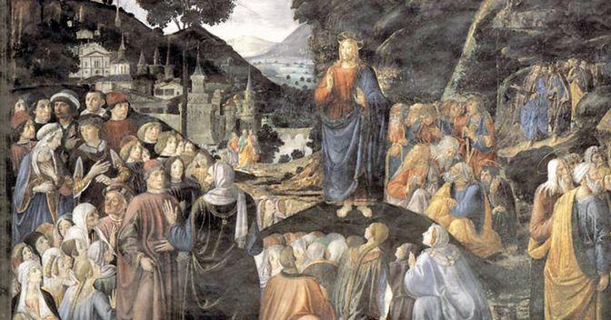 . Cosimo Rosselli, «Il Discorso della montagna», 1482, Roma, Cappella Sistina