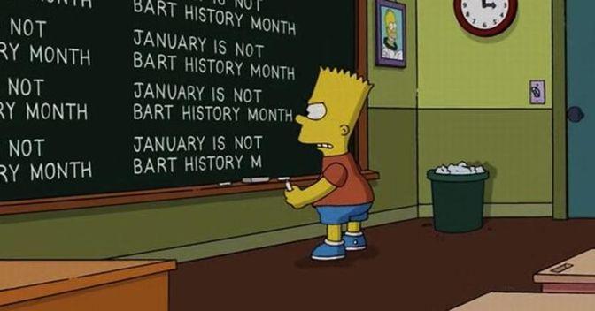 Bart Simpson sempre alla lavagna