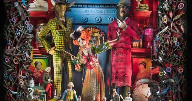 Una delle vetrine di Natale di Bergdorf, ispirate alle icone di New York