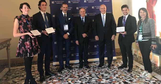 La premiazione a Cernobbio: seconda edizione del premio The Peres Heritage Initiative