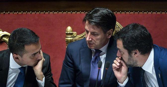 Sulle sanzioni europee al premier ungherese Orbàn si è manifestato uno strappo nell'esecutivo Conte, con M5s che ha votato a favore e la Lega contro (foto Ansa)