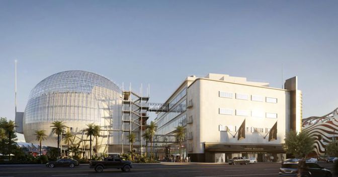Academy Museum of Motion Pictures, Exterior Rendering ©Renzo Piano Building Workshop/©Academy Museum Foundation/ Image from L'Autre Image