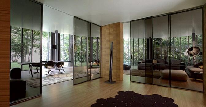 Trasparenze di design tra le mura domestiche il sole 24 ore - Porte scorrevoli tutta altezza ...