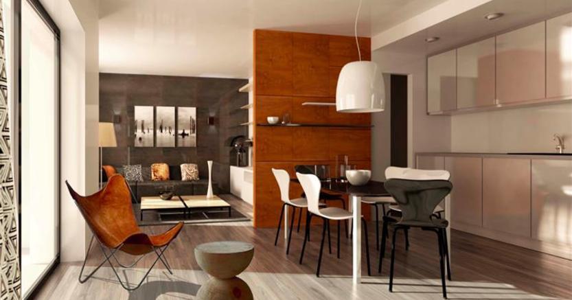 Come creare micro aree in un appartamento senza innalzare muri
