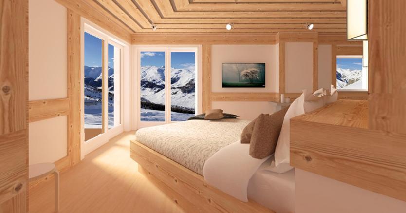Come realizzare una suite in una casa di montagna il for Nuove case con suite suocera