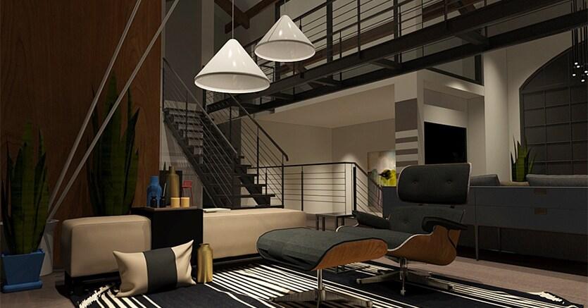 Come trasformare un rustico in una residenza hi tech il for Capannone in stile