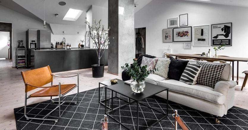 Unire salone e cucina l open space non passa di moda il for Cucina open space con pilastri