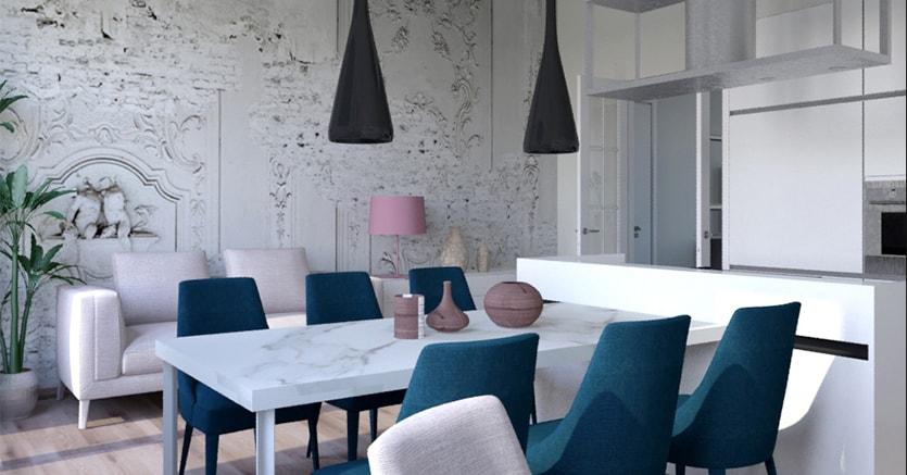 Arredo in stile classico o contemporaneo funziona anche for Casa stile classico moderno