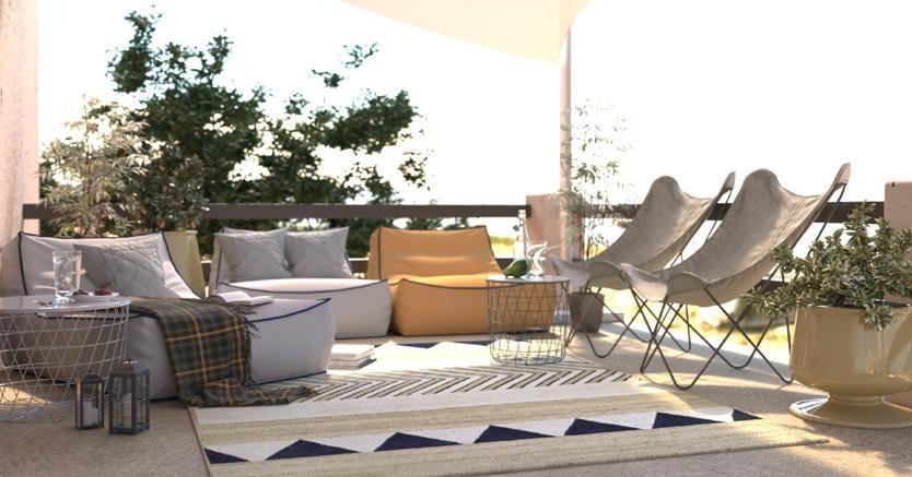 Come rendere moderna e luminosa la casa al mare il sole for Rendere gratuiti i propri piani di casa