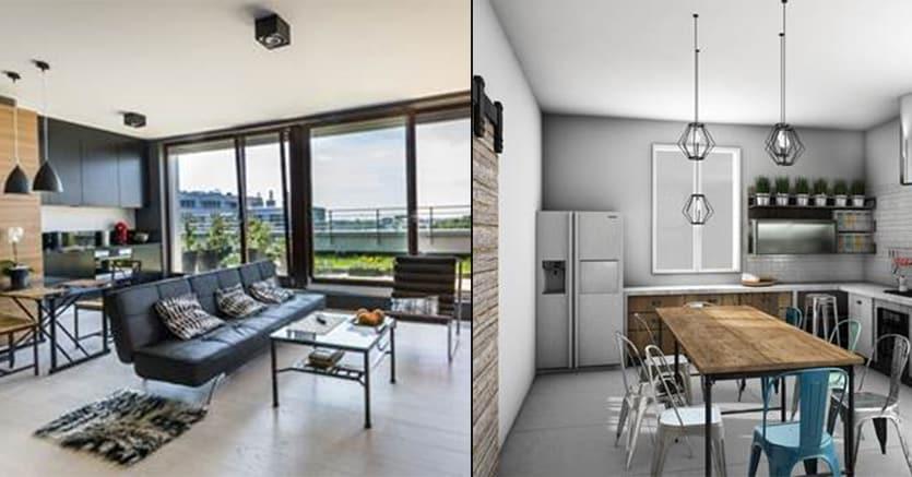 Sviluppare una casa longitudinale divisa a met da muri for E cucina 24 bologna