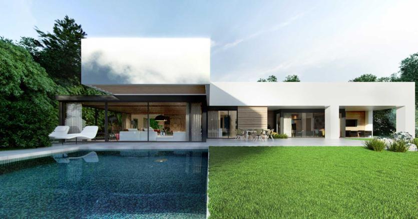 La tua villa un po datata ecco come trasformarla in for Ville bifamiliari moderne