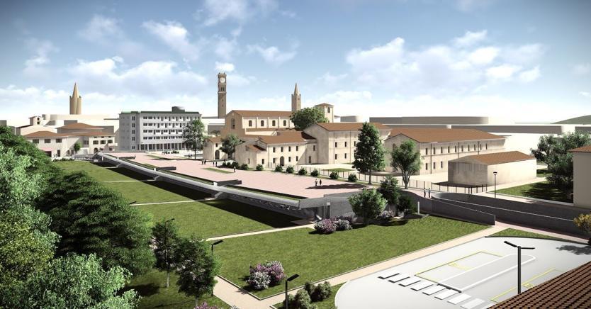 Un rendering della riqualificazione del Giardino dei Musei di Forlì