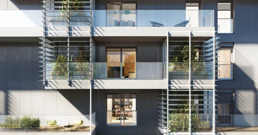 Il progetto delle residenze Giardini d'inverno in zona Porta Nuova a Milano