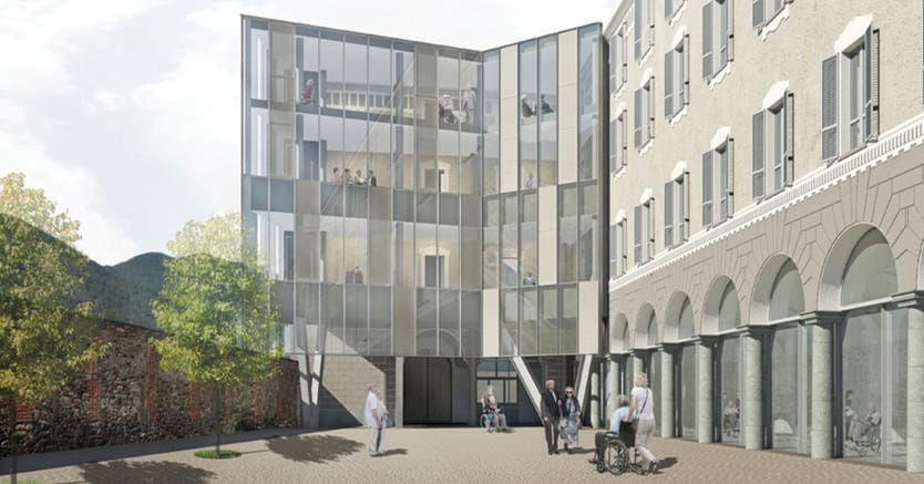 L'ex Collegio San Filippo Neri a Lanzo Torinese  è in fase di conversione a Rsa, progetto di Picco Architetti