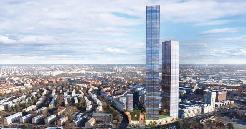 Il progetto Tellus towers a Stoccolma