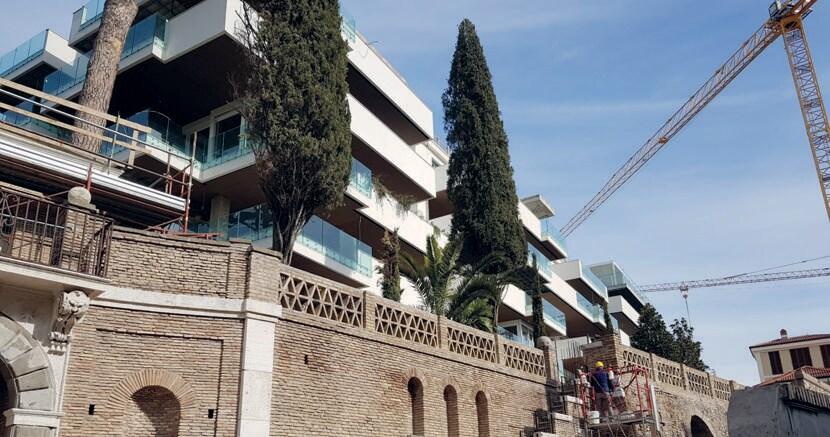 Il complessso Monticello a Roma in via Aurelia è nato dalla demolizione di una clinica