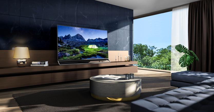 """Hisense, U9D Uled, 4K, con un potente sistema di retroilluminazione aLED, 8 milioni di pixel, senza cornice, sottilissimo da 75 e 63"""""""": Per grandi saloni."""