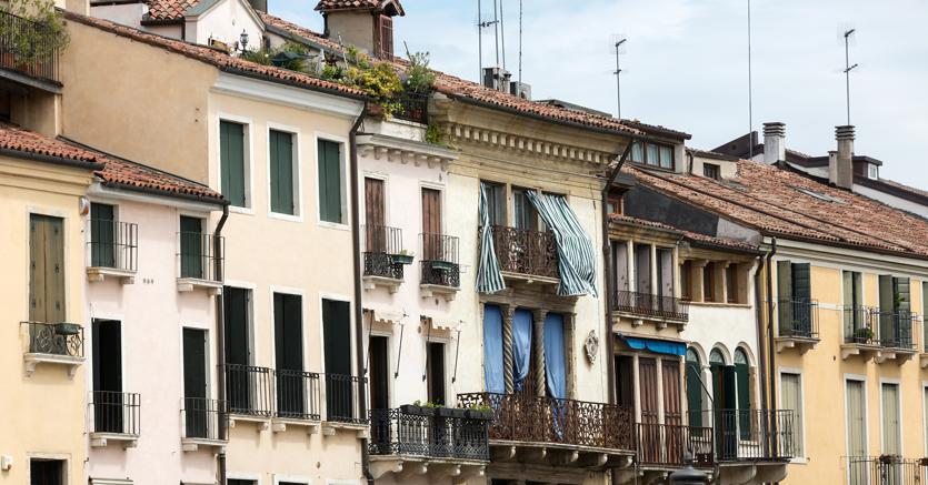 Uno scorcio di case a Padova