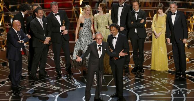 Alla notte degli Oscar trionfa «Birdman». Migliori costumi all'italiana Milena Canonero per «Grand Budapest Hotel»