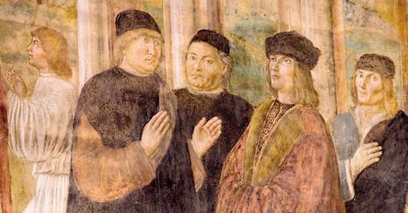 A Carpi. Bernardino Loschi, Palazzo dei Pio,   ritratto di Alberto Pio. Pomponazzi e Aldo Manuzio (inizio XVI secolo)