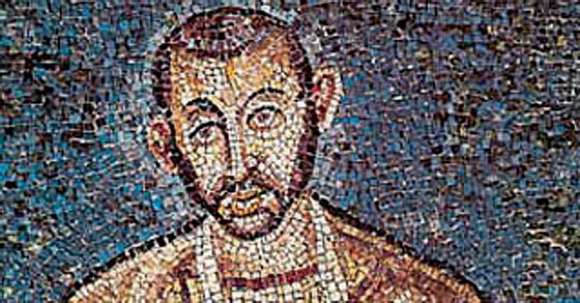 Ambrogio. Il vescovo è ritratto nel mosaico  di San Vittore in ciel d'oro a Milano