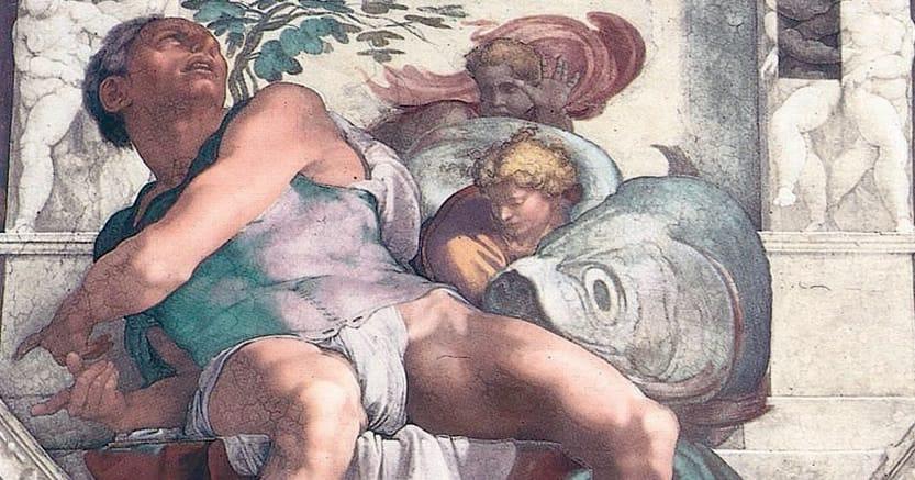 Profeta. Michelangelo Buonarroti, «Giona», Roma, Cappella Sistina
