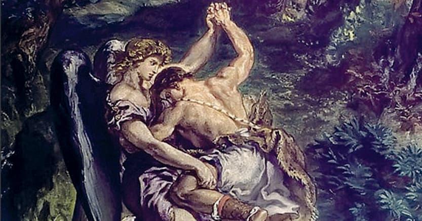Studiare e lottare. Eugène Delacroix «Giacobbe lotta con l'angelo»,  (particolare), (1853-1861), Parigi, Saint Sulpice