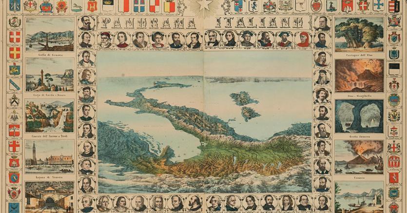 Asta. La carta geografica dell'Italia,  vista da Nord a Sud, in vendita nella prossima asta Bolaffi.  Per le informazioni e il catologo: astebolaffi.it