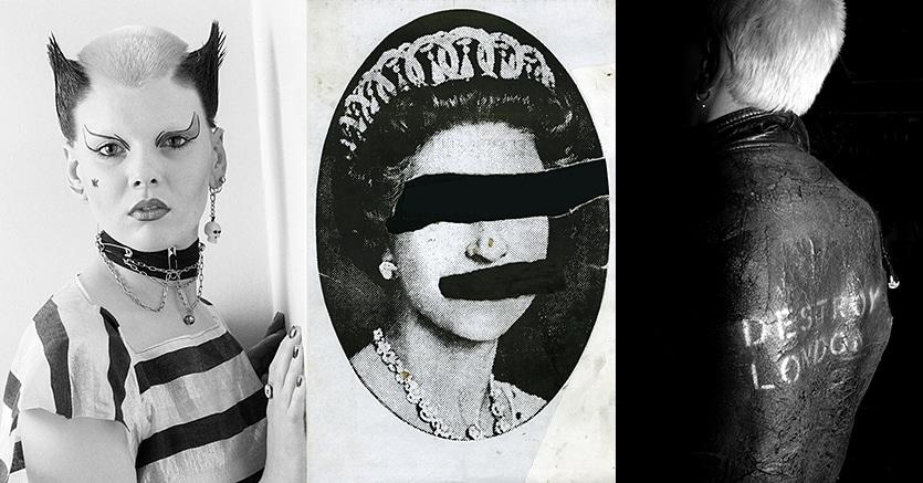 """Alcune delle illustrazioni esposte  alla Galleria Carla Sozzani nell'ambito della mostra """"Punk in Britain"""" dedicata ai protagonisti del punk britannico dalla metà degli anni 70 in poi"""