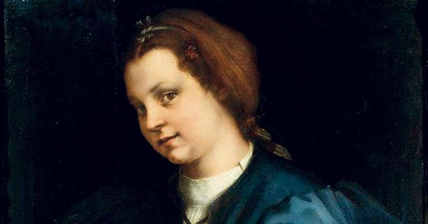 A Firenze.«Dama col Petrarchino», Andrea  del Sarto,  1528   circa,  Uffizi