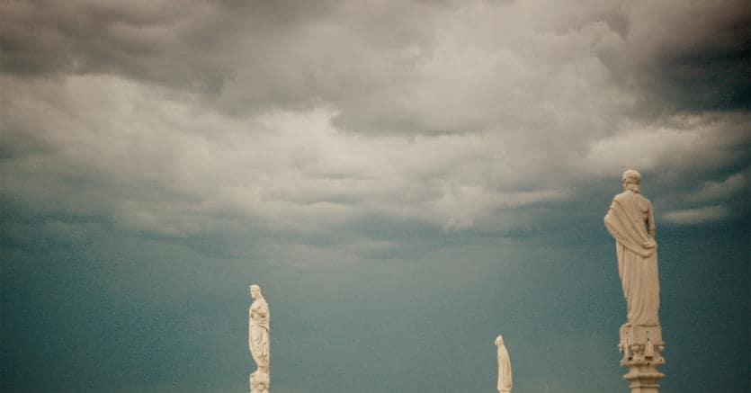 Le guglie del duomo di Milano e un particolare della medusa Turritopsis Nutricola nel film «Spira Mirabilis»