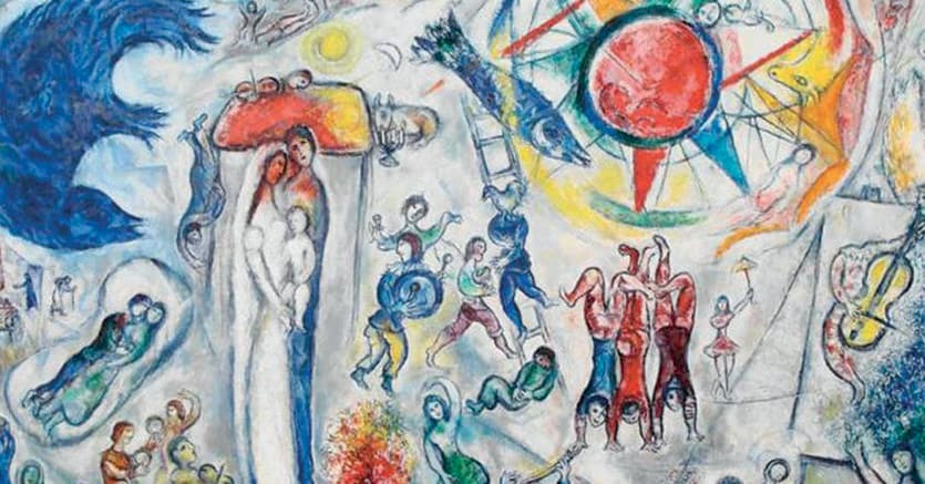 «Marc Chagall-La vie»,  266 opere dell'artista russo tra cui, per la prima volta in Italia,  la monumentale opera «La Vie», tesoro nazionale francese,  insieme all'intera serie delle 105 tavole della Bibbia