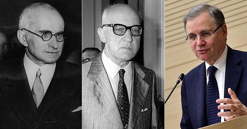 Da sinistra, Luigi Einaudi, Paolo Baffi e Ignazio Visco