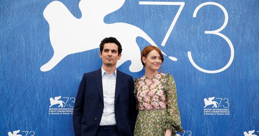 """Gli attori Ryan Gosling e Emma Stone   interpreti del film """"La la Land"""""""