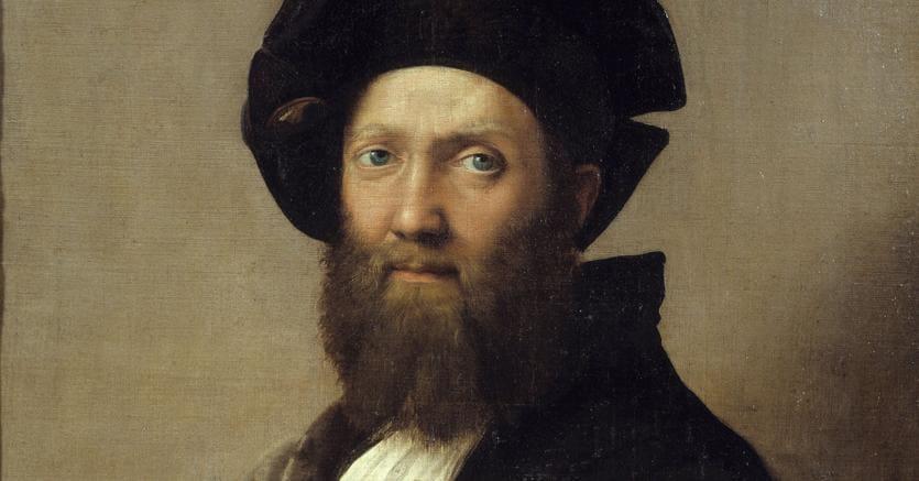 Ritratto di Baldassar Castiglione|Dipinto a olio su tela di Raffaello (1514-1515, Museo del Louvre, sede di Lens)