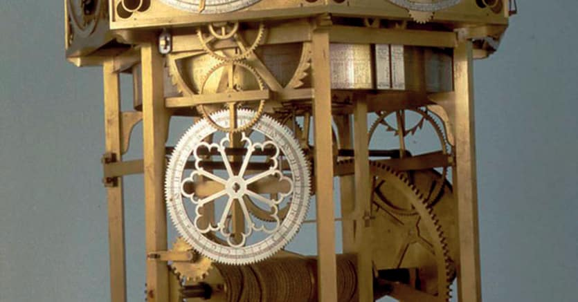 L'orologio planetario di Giovanni Dondi   del 1344 ricostruito nel 1963 e conservato  al Museo della Scienza e della Tecnica di Milano