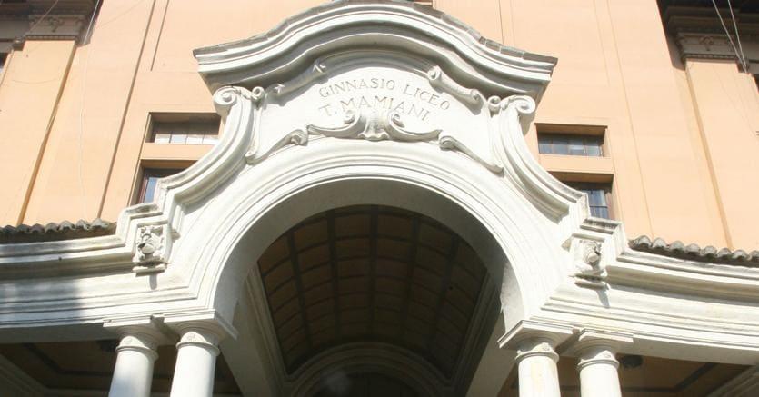 Porta d'accessso.Il liceo classico Mamiani di Roma