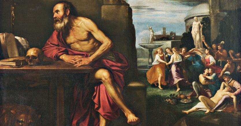 L'esercizio ascetico. «Le tentazioni diSan Girolamo», pittore dell'ambito di Bartolomeo Gennari (1594-1661), Galleria Estense di Modena