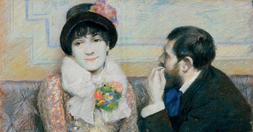 Zandomeneghi. «Coppia al caffè» (1885),  Fondazione F.C. per l'Arte