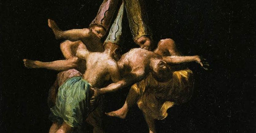 «Streghe nell'aria», Francisco Goya, olio su tela, 1797-98, Museo del Prado, Madrid