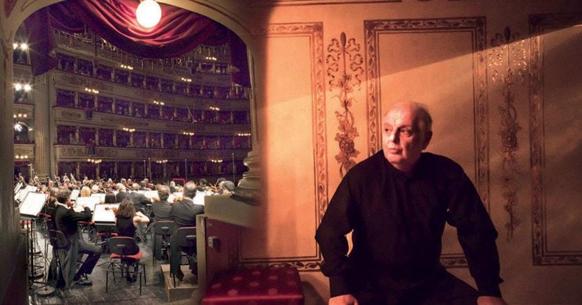 Protagonista.  Daniel Barenboim e un interno della Scala.