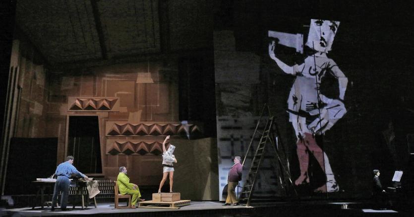 Monumentali.«Lulu» nella foto di (Ken Howard) al Metropolitan Opera di New York.
