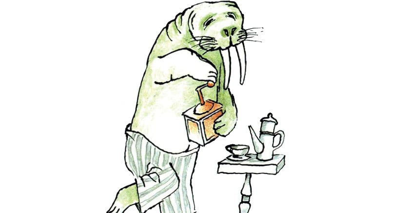 Topotopo Tre Chicchi Di Moca Tritava Il Tricheco Per Fare Il Caffe