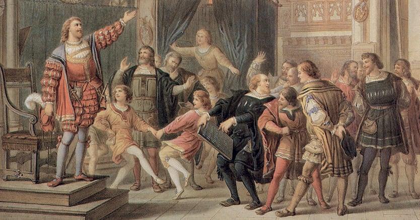 Una scenografia per «Imaestri cantori»