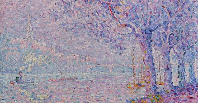 Paul Signac. «Saint-Cloud», 1903, (particolare), collezione privata