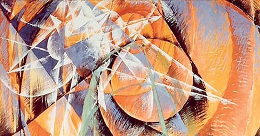 «Mercurio transita davanti al sole»,  Giacomo Balla, 1914  Collezione  Peggy Guggenheim