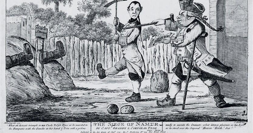 Con illustrazioni d'autore. «L'assedio di Namur», disegnato da William Hogarth, che vede come protagonista Tristram Shandy