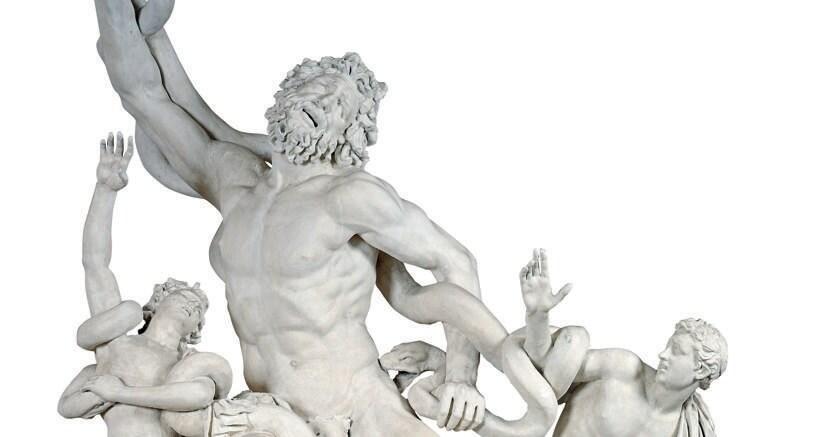 Copia. Il calco in gesso del «Laocoonte»  che sostituì  in Vaticano la statua originale sottratta al papa durante l'età napoleonica